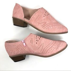 Women's Size 11 - 11.5 Cut-Out Booties Pink